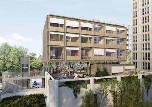 Réinventer Paris -Vue de la terrasse et les logements Pablo KATZ